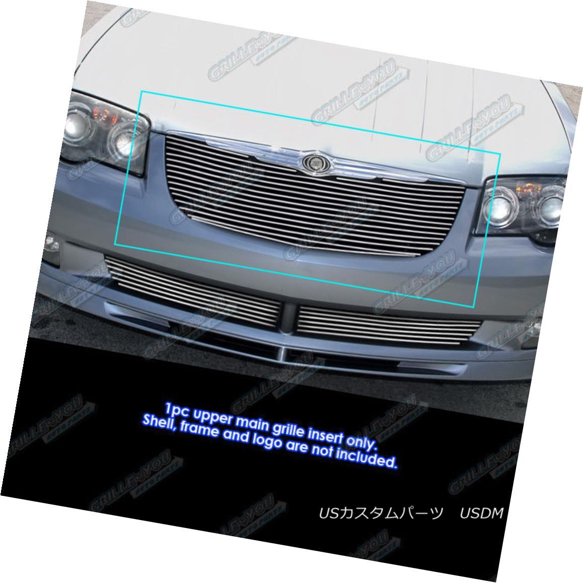 グリル Fits 2004-2008 Chrysler Crossfire Billet Grille Grill Insert フィット2004-2008クライスラークロスファイアビレットグリルグリルインサート