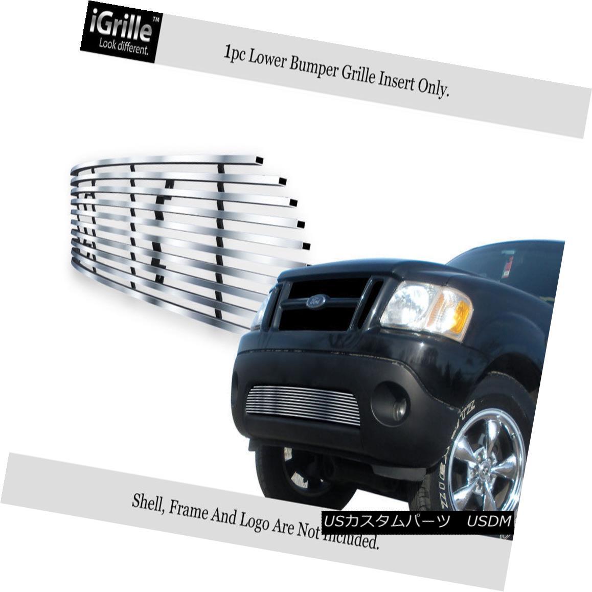 グリル Fits 2001-2006 Explorer Sport/Sport Track Bumper Stainless Steel Billet Grille 2001-2006エクスプローラースポーツ/スポーツトラックバンパーステンレススチールビレットグリルに適合