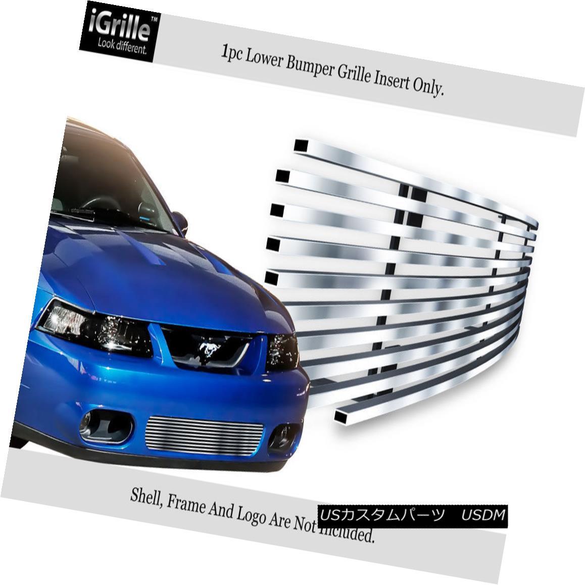グリル For 2003-2004 Ford Mustang SVT Cobra Stainless Steel Bumper Billet Grille 2003-2004フォードマスタングSVTコブラステンレス鋼バンパービレットグリル