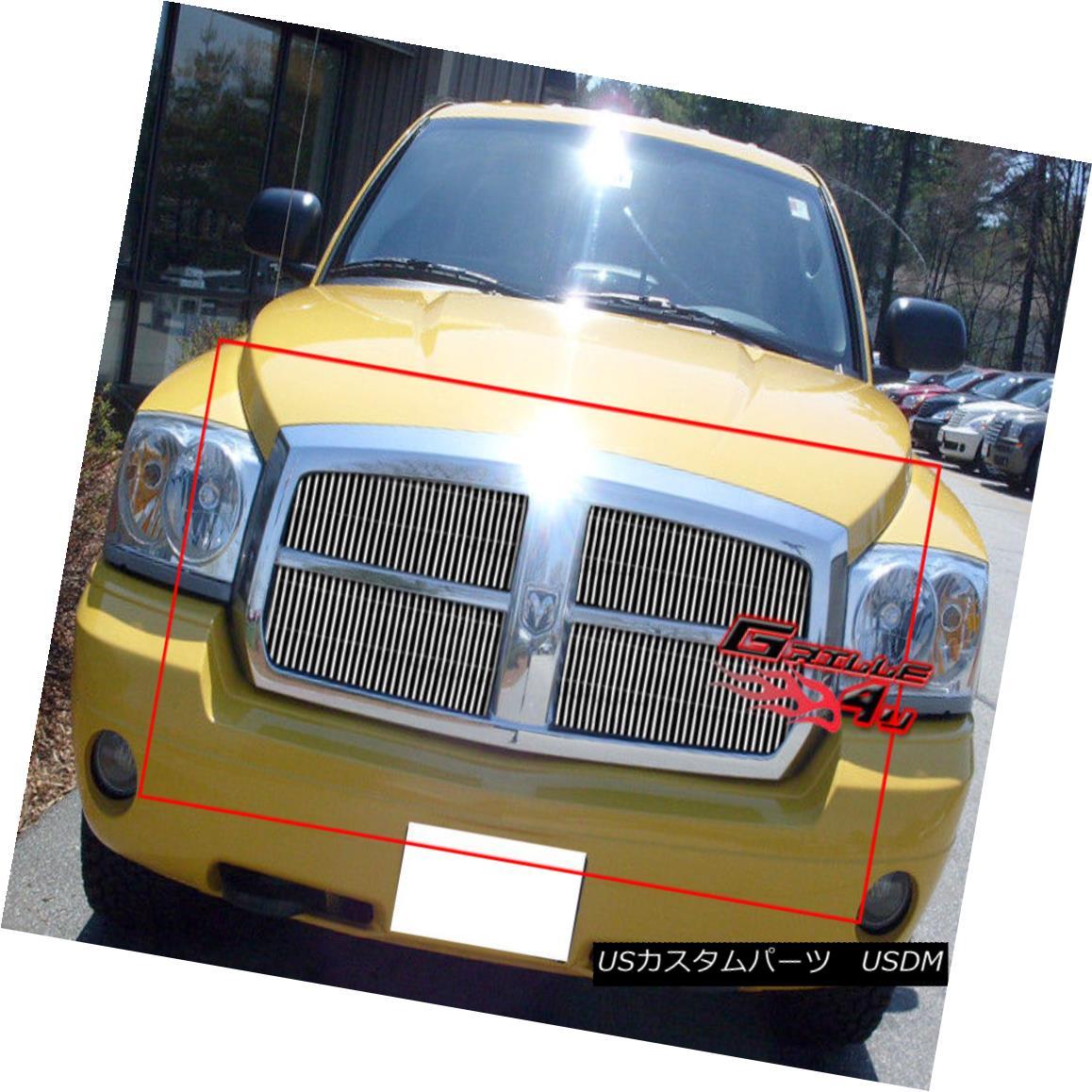 グリル Fits 2005-2007 Dodge Dakota Billet Grille Insert 2005-2007 Dodge Dakota Billet Grilleインサートに適合