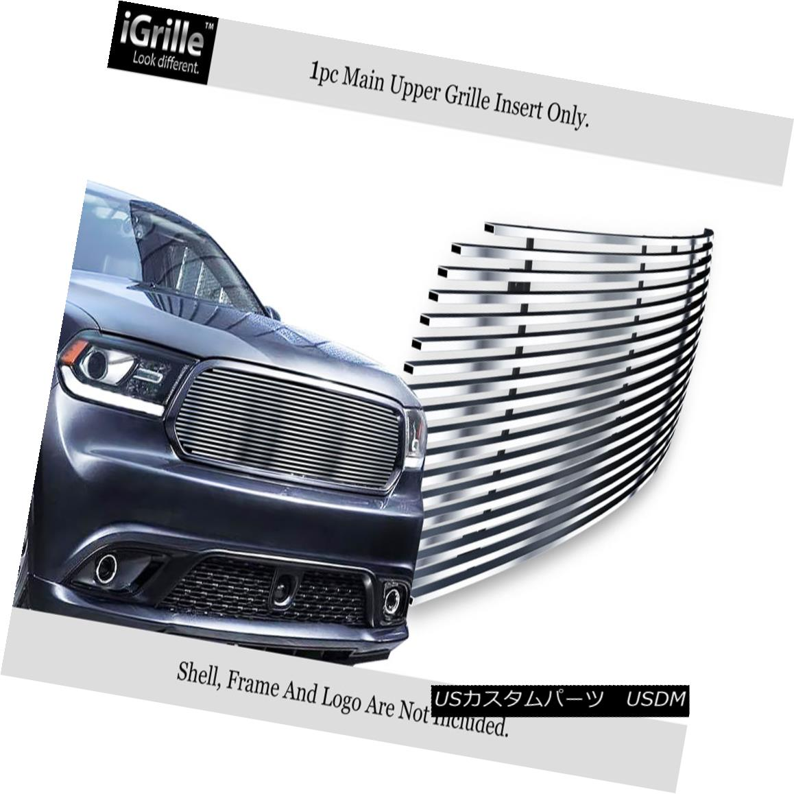 グリル For 2014-2018 Dodge Durango Stainless Steel Billet Grille 2014-2018 Dodge Durangoステンレス鋼ビレットグリル
