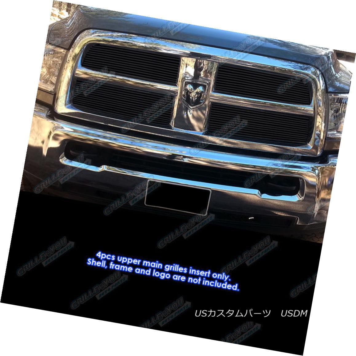 グリル Fits 2010-2012 Dodge Ram 2500/ 3500 Black Billet Grille Inserts フィット2010-2012ダッジラム2500/3500ブラックビレットグリルインサート