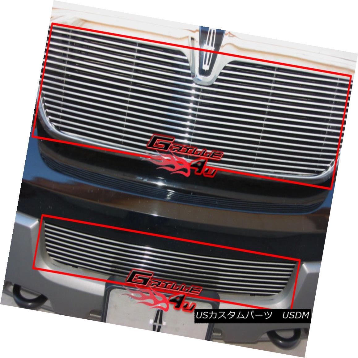 グリル Fits 2003-2004 Lincoln Navigator Billet Grille Combo フィット2003-2004リンカーンナビゲータービレットグリルコンボ