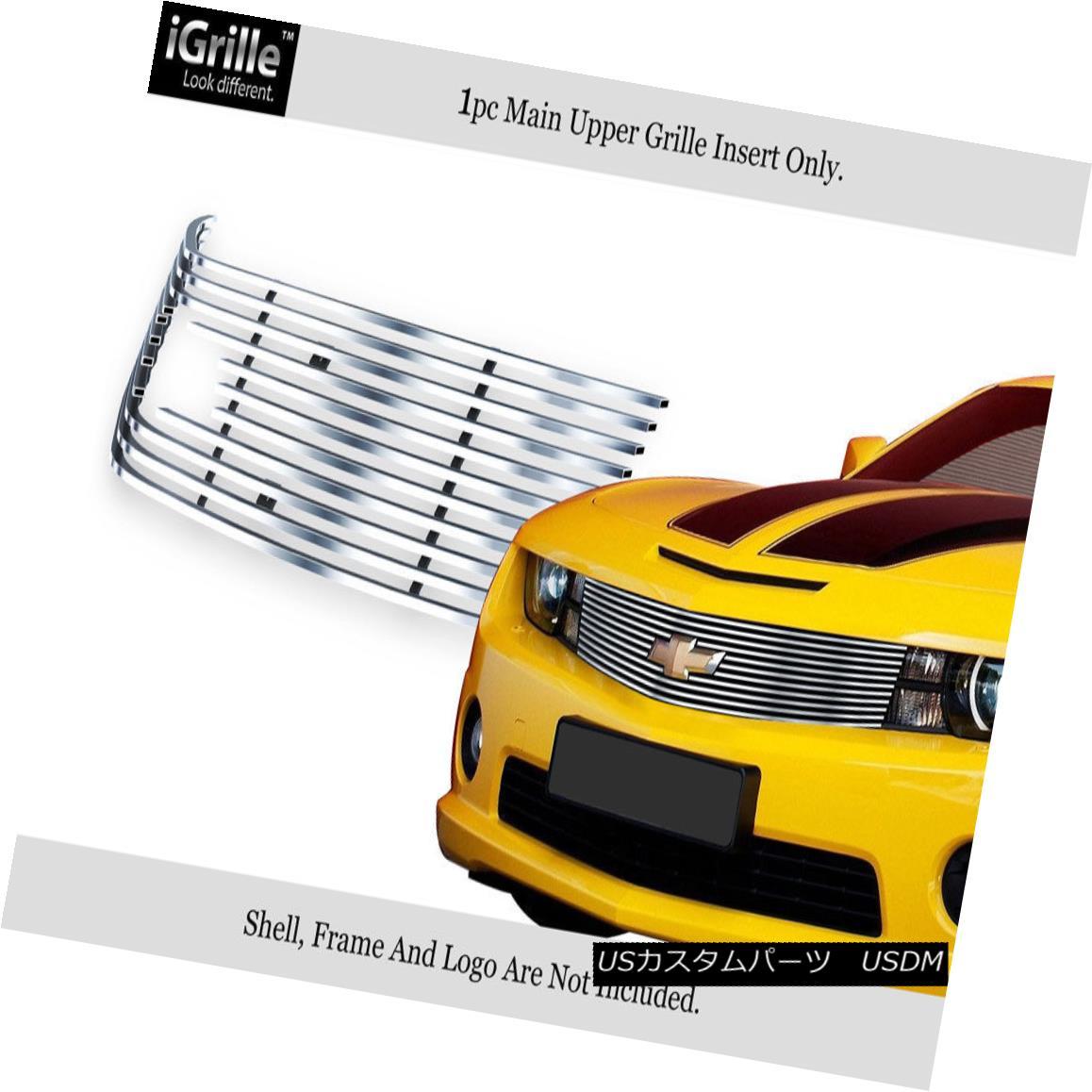 グリル Fits 2010-2013 Chevy Camaro w/logo show Stianless Steel Billet Grille フィット2010年?2013年シボレーカマロロゴショーステンレス鋼ビレットグリル