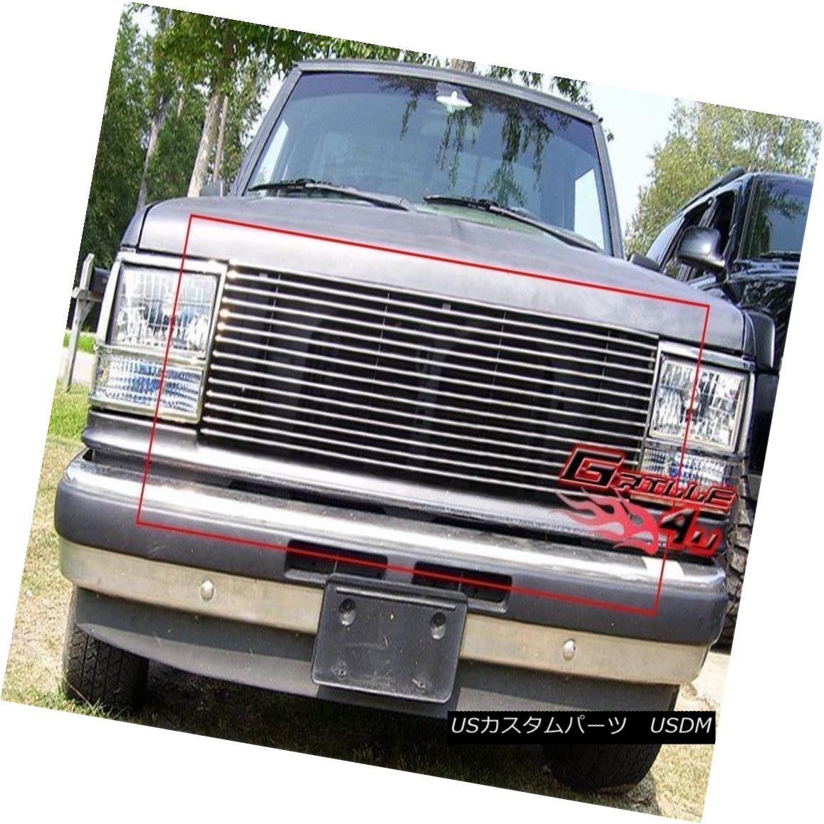 グリル Fits 89-92 Ford Bronco 2/Ranger 90-94 Explorer Main Upper Billet Grille フィット89-92フォードブロンコ2 /レンジャー90-94エクスプローラメインアッパービレットグリル