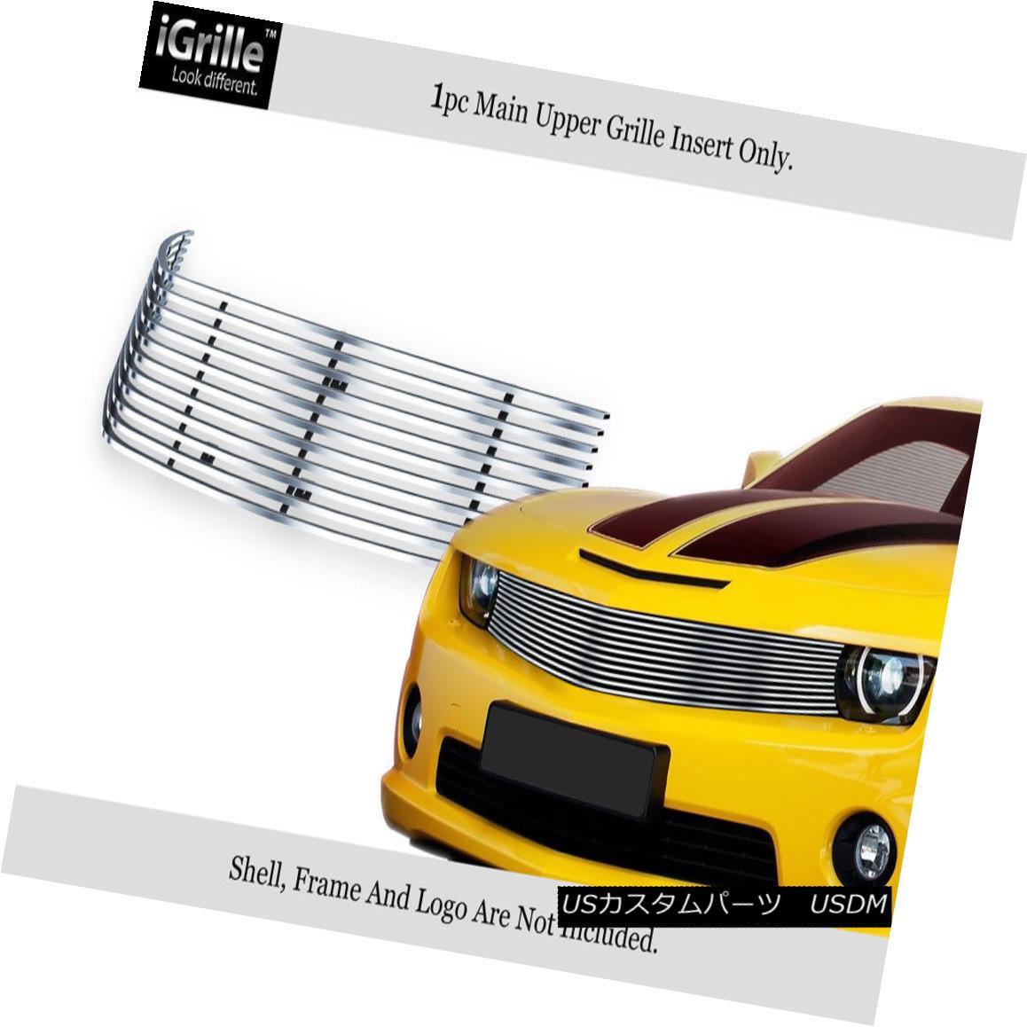 グリル Fits 2010-2013 Chevy Camaro LT/LS/RS/SS Stainless Steel Billet Grille フィット2010-2013シボレーカマロLT / LS / RS / SSステンレス鋼ビレットグリル