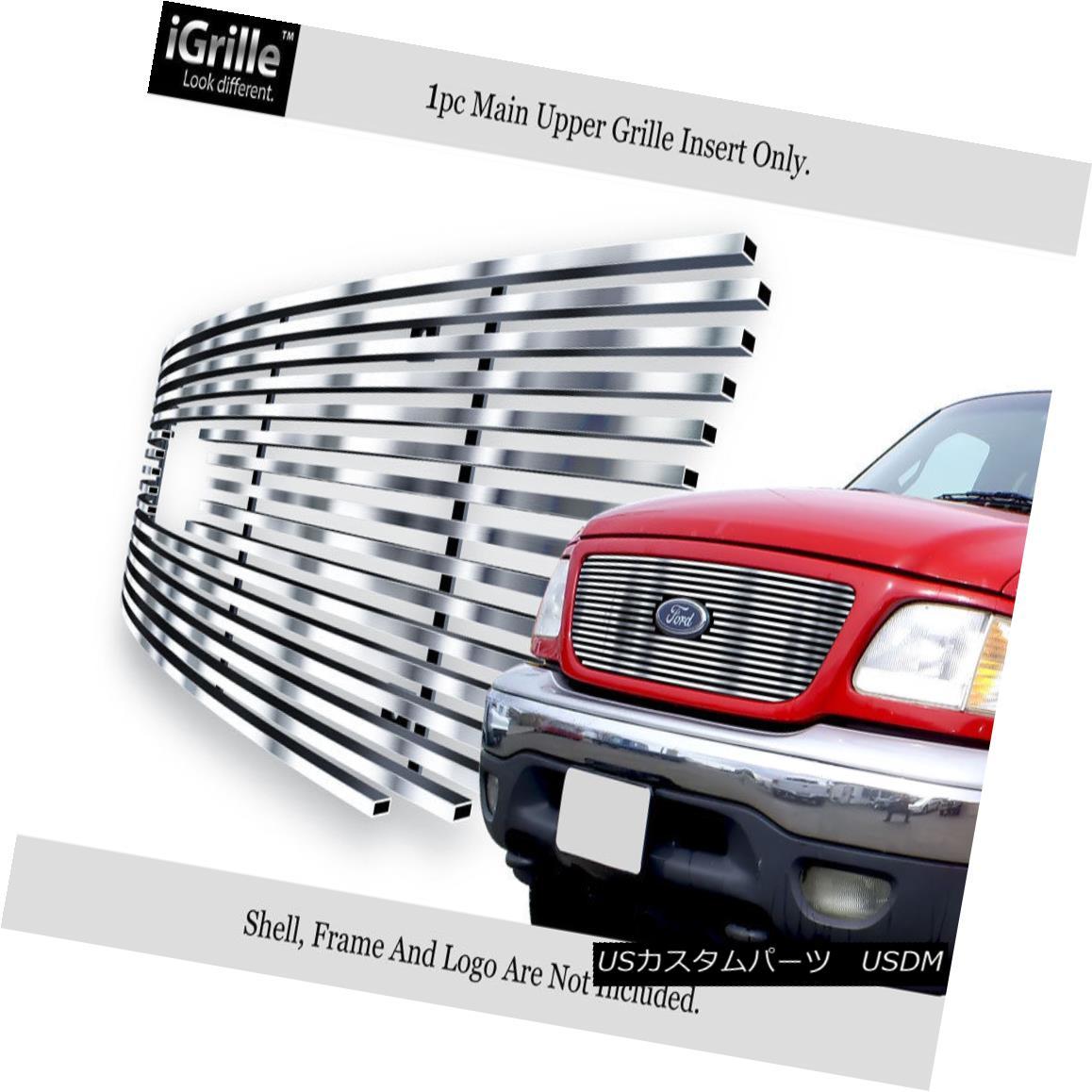 グリル Fits 1999-2003 Ford F-150/ Lightning Honeycomb Stainless BGC Billet Grille フィット1999-2003フォードF-150 /ライトニングハニカムステンレスBGCビレットグリル