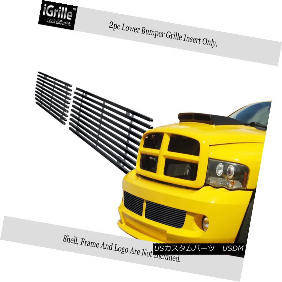 グリル Fits 2004-2006 Dodge Ram SRT 10 Black Bumper Stainless Steel Billet Grille 2004-2006 Dodge Ram SRT 10ブラックバンパーステンレススチールビレットグリル