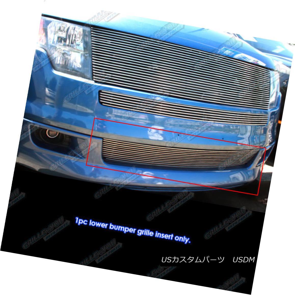 グリル Fits 2007-2010 Ford Edge Lower Bumper Billet Grille Grill Inserts フィット2007-2010フォードエッジロワーバンパービレットグリルグリルインサート
