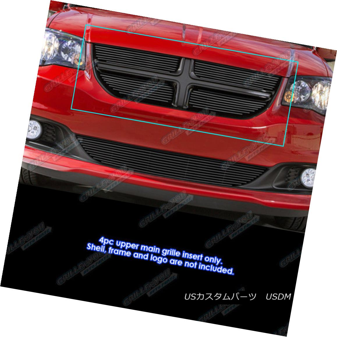 グリル Fits 2011-2017 Dodge Grand Caravan Black Billet Grille Insert 2011-2017 Dodge Grand Caravanブラックビレットグリルインサート
