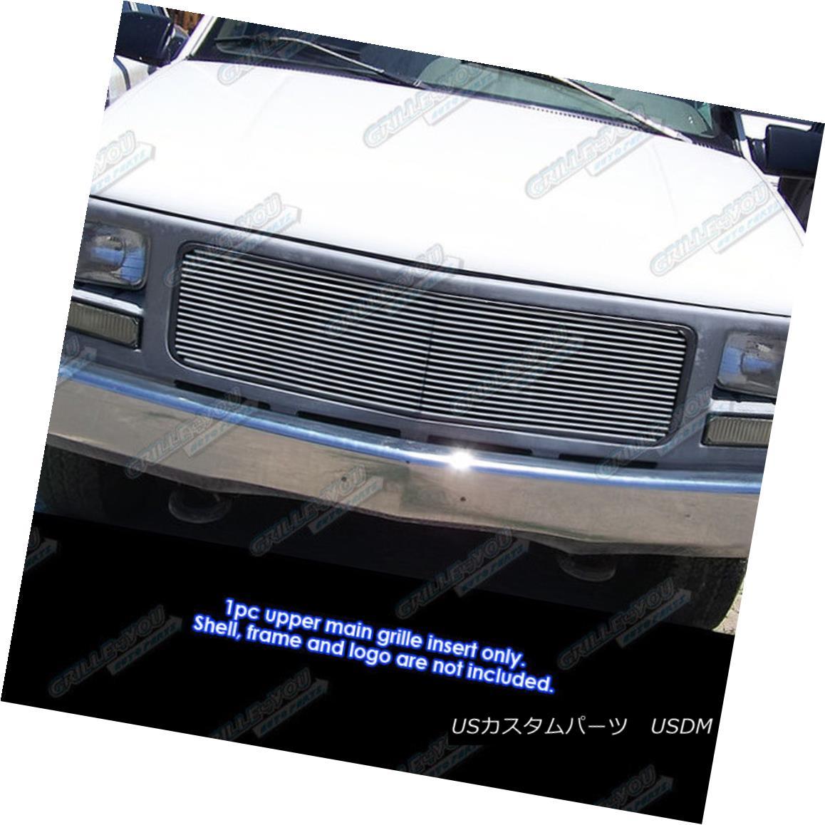 グリル Fits 1994-1998 GMC C/K Pickup/94-99 Suburban/Yukon Single Lights Billet Grille 適合1994-1998 GMC C / Kピックアップ/ 94-99郊外/ユーコンシングルライトビレットグリル