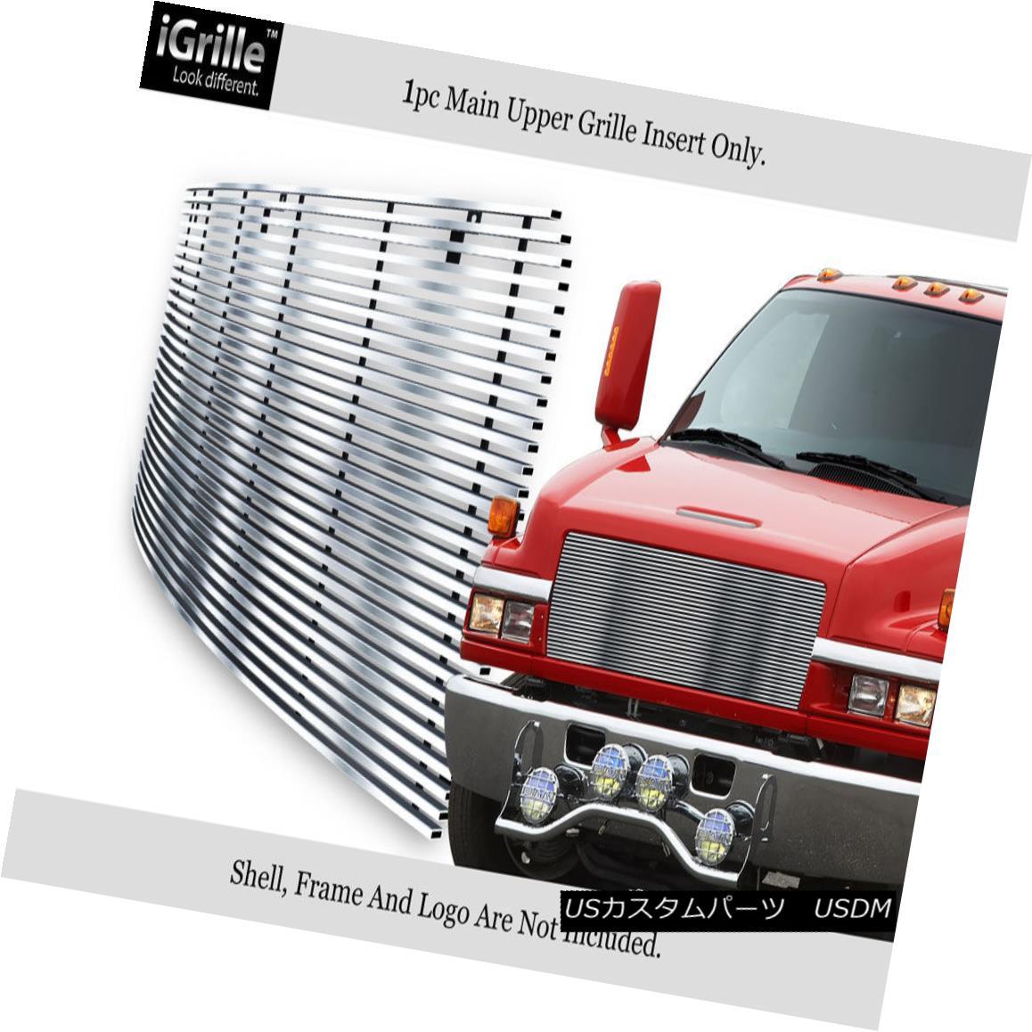 グリル Fits 03-09 Chevy Kodiak C4500/C5500 Commercial Truck Stainless Billet Grille フィット03-09シボレーコディアックC4500 / C5500商用車ステンレスビレットグリル