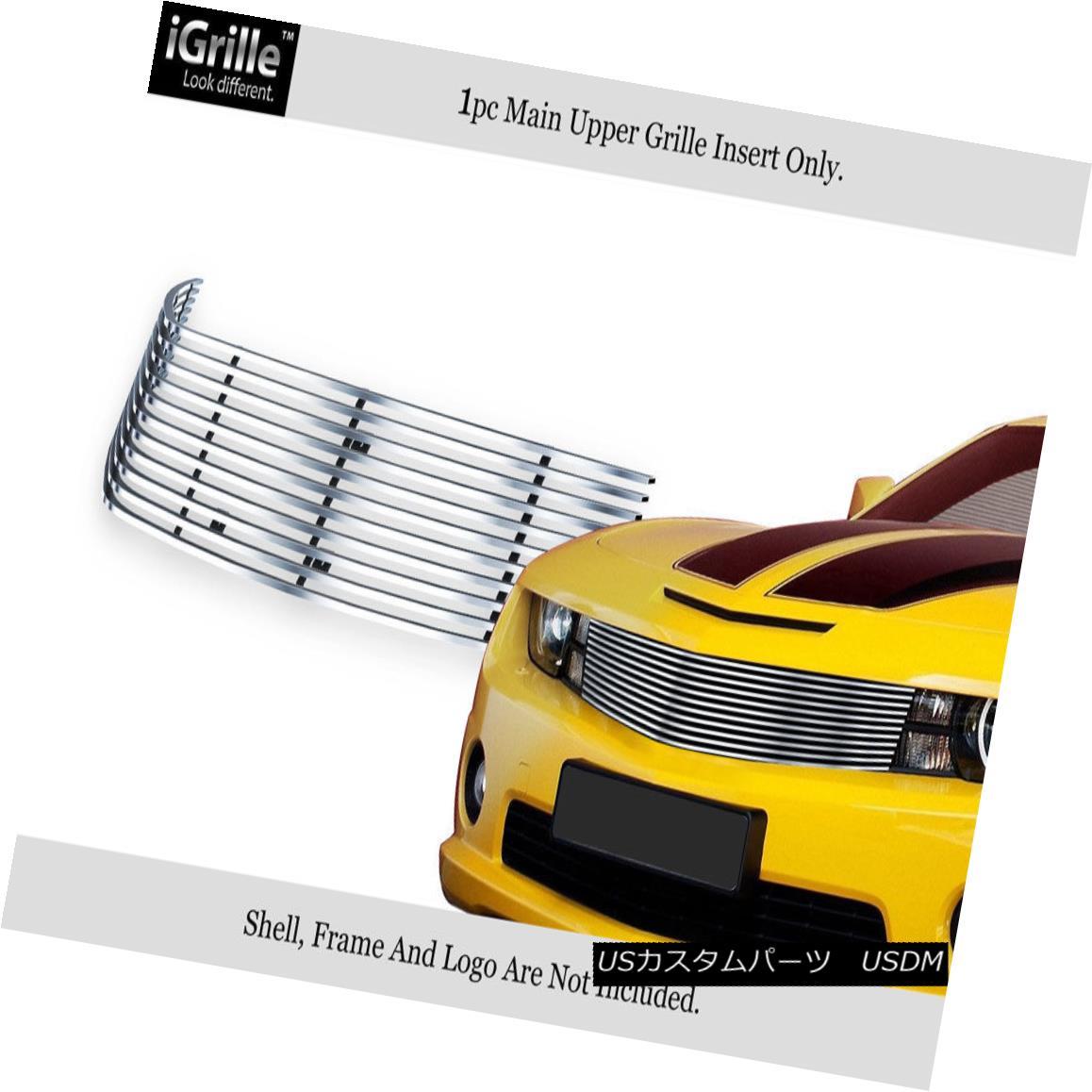 グリル Fits 2010-2013 Chevy Camaro LT/LS/RS/SS Short Style Stainless Billet Grille フィット2010-2013シボレーカマロLT / LS / RS / SSショートスタイルステンレスビレットグリル