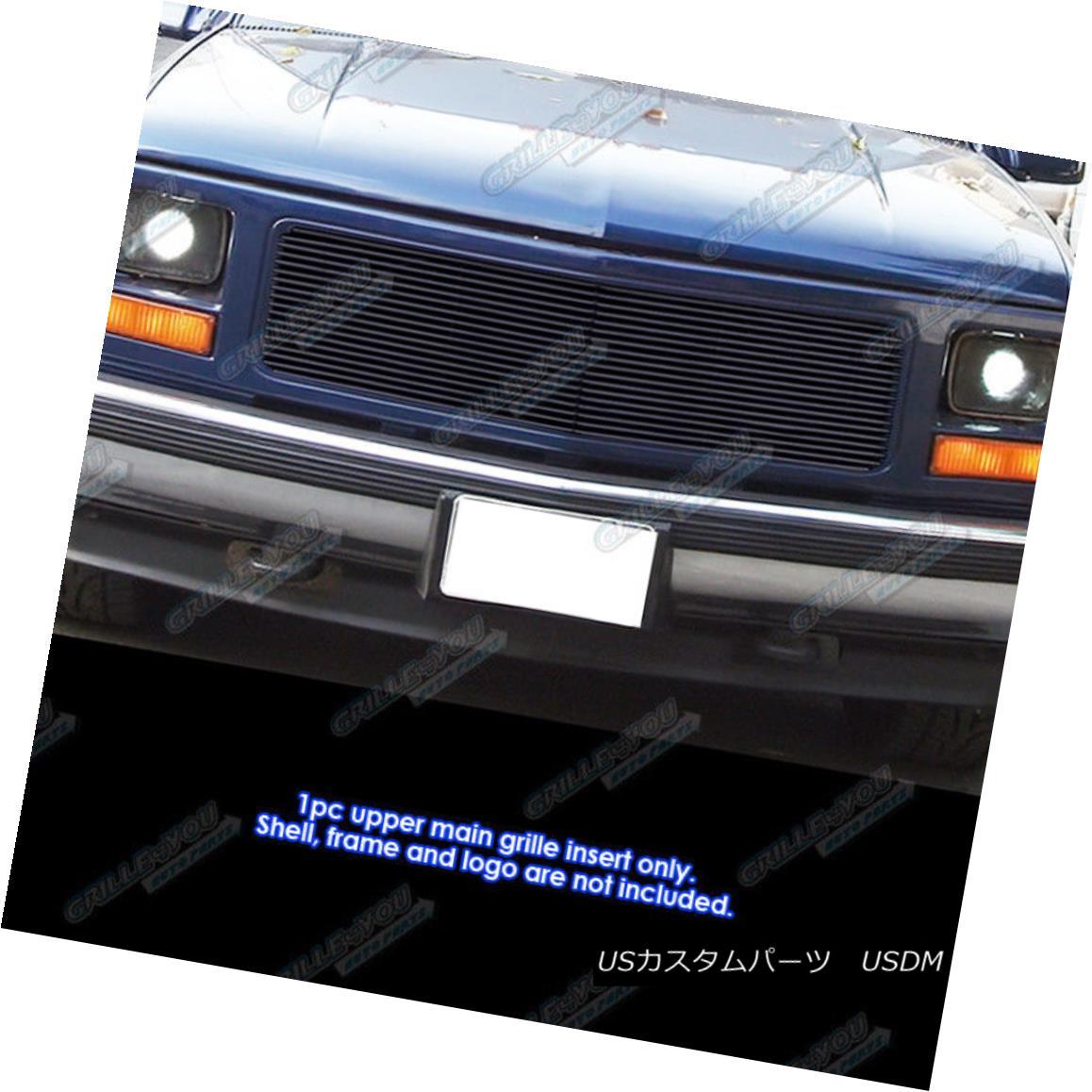 グリル Fits 1994-1998 GMC C/K Pickup/94-99 Suburban Single Lights Black Billet Grille 1994?1998 GMC C / Kピックアップ/ 94-99郊外シングルライトブラックビレットグリル