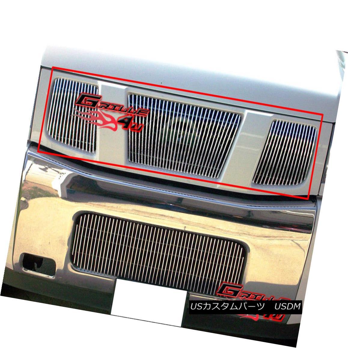グリル Fits 04-07 Nissan Titan/Armada Vertical Main Upper Billet Grille Insert フィット04-07 Nissan Titan / Armada垂直メインアッパービレットグリルインサート