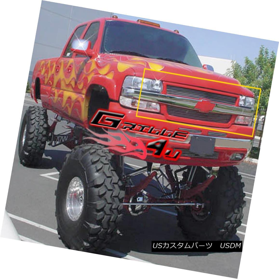 グリル Fits 2001-2002 Chevy Silverado 2500/3500 Billet Grille Insert 2001-2002 Chevy Silverado 2500/3500 Billet Grille Insertに適合