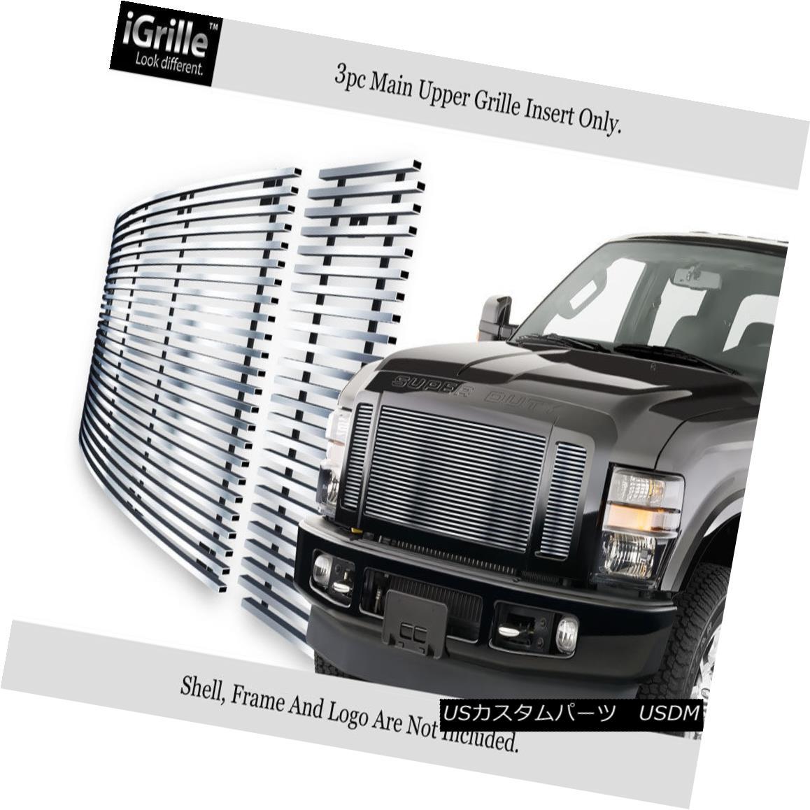 グリル For 2008-2010 Ford F250/F350/F450/ F550 Stainless Steel Billet Grille Insert 2008年?2010年フォードF250 / F350 / F450 / F550ステンレス鋼ビレットグリルインサート