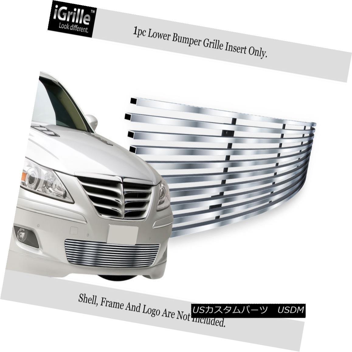 グリル Fits 2009-2011 Genesis Sedan Bumper Stainless Steel Billet Grille 2009-2011年ジェネシスセダンバンパーステンレス鋼ビレットグリルに適合