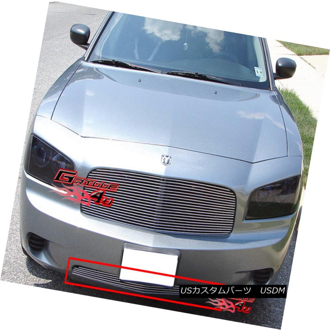 グリル Fits 05-10 Dodge Charger Lower Bumper Billet Grille Insert フィット05-10ダッジチャージャーロワーバンパービレットグリルインサート