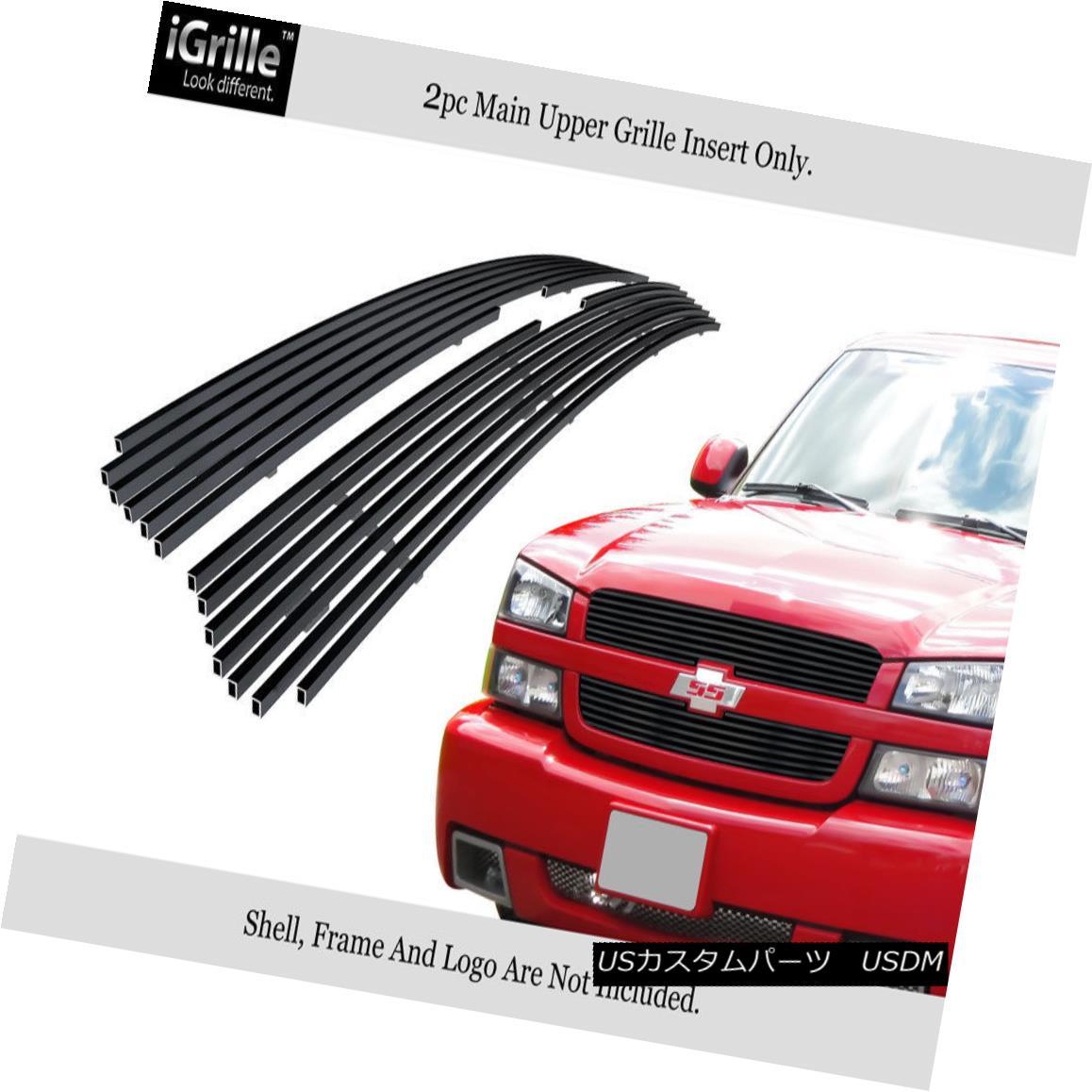 グリル Fits 2002-2005 Chevy Silverado 1500/Avalanche Black Stainless Billet Grille フィット2002-2005シボレーシルバラード1500 /アバランシェブラックステンレスビレットグリル