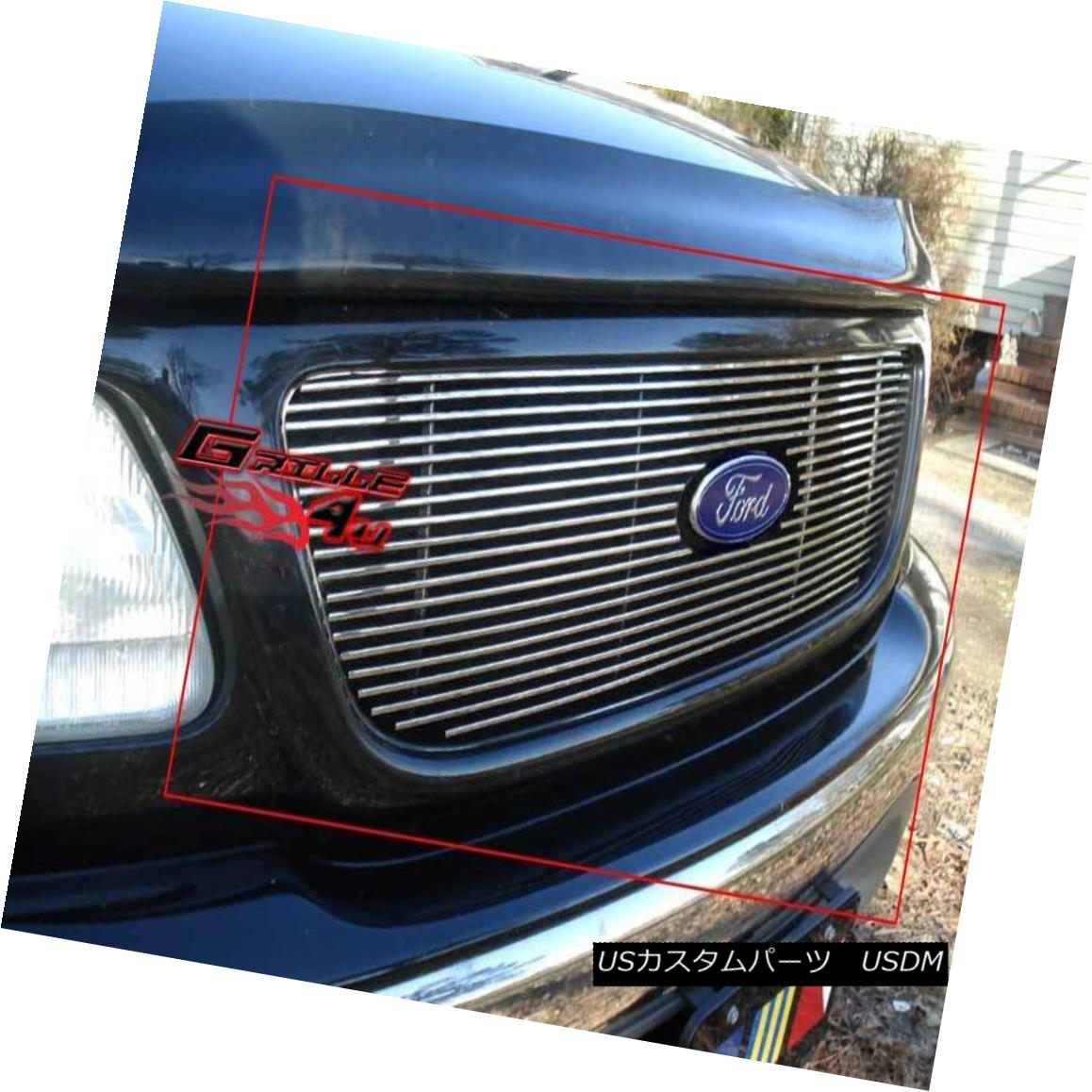 グリル Fits 1999-2003 Ford F150/Lightning/Harley Davidson Billet Grille 1999-2003 Ford F150 / Lightning / Harley Davidson Billet Grilleに適合