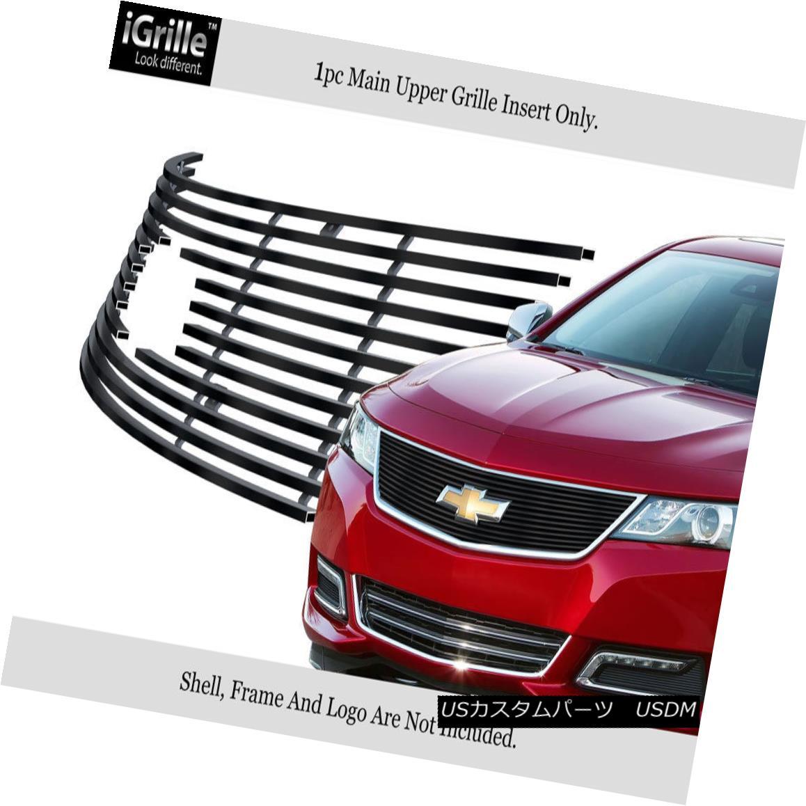グリル Fits 2014-2016 Chevy Impala Logo Show Stainless Steel Upper Billet Grille フィット2014-2016シボレーインパラロゴショーステンレス鋼アッパービレットグリル