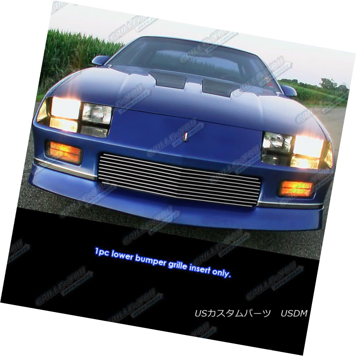 グリル Fits 1982-1987 Chevy Camaro Z28 Main Upper Billet Grille Grill Insert フィット1982-1987シボレーカマロZ28メインアッパービレットグリルグリルインサート