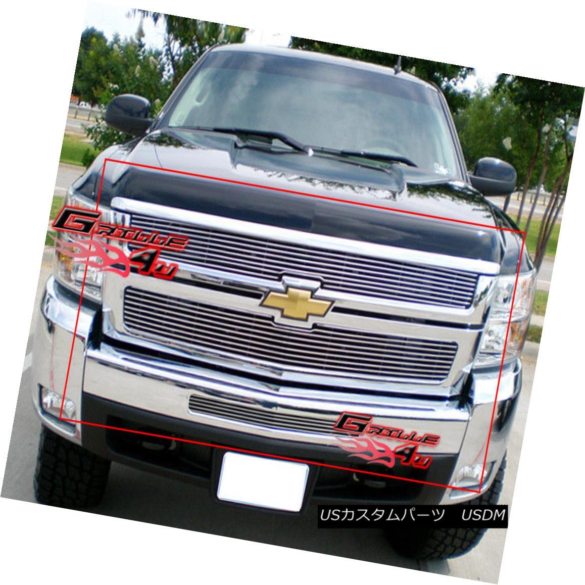 グリル Fits 2007-2010 Chevy Silverado 2500 Billet Grille Combo 08 09 フィット2007年?2010年シボレーシルバラード2500ビレットグリルコンボ08 09