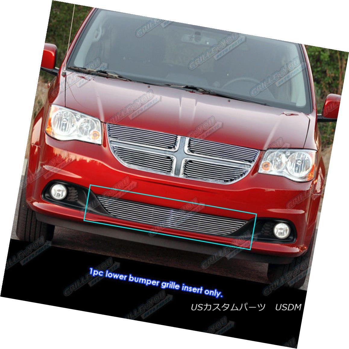 グリル Fits 2011-2017 Dodge Grand Caravan Bumper Billet Grille Insert フィット2011-2017ドッジグランドキャラバンバンパービレットグリルインサート