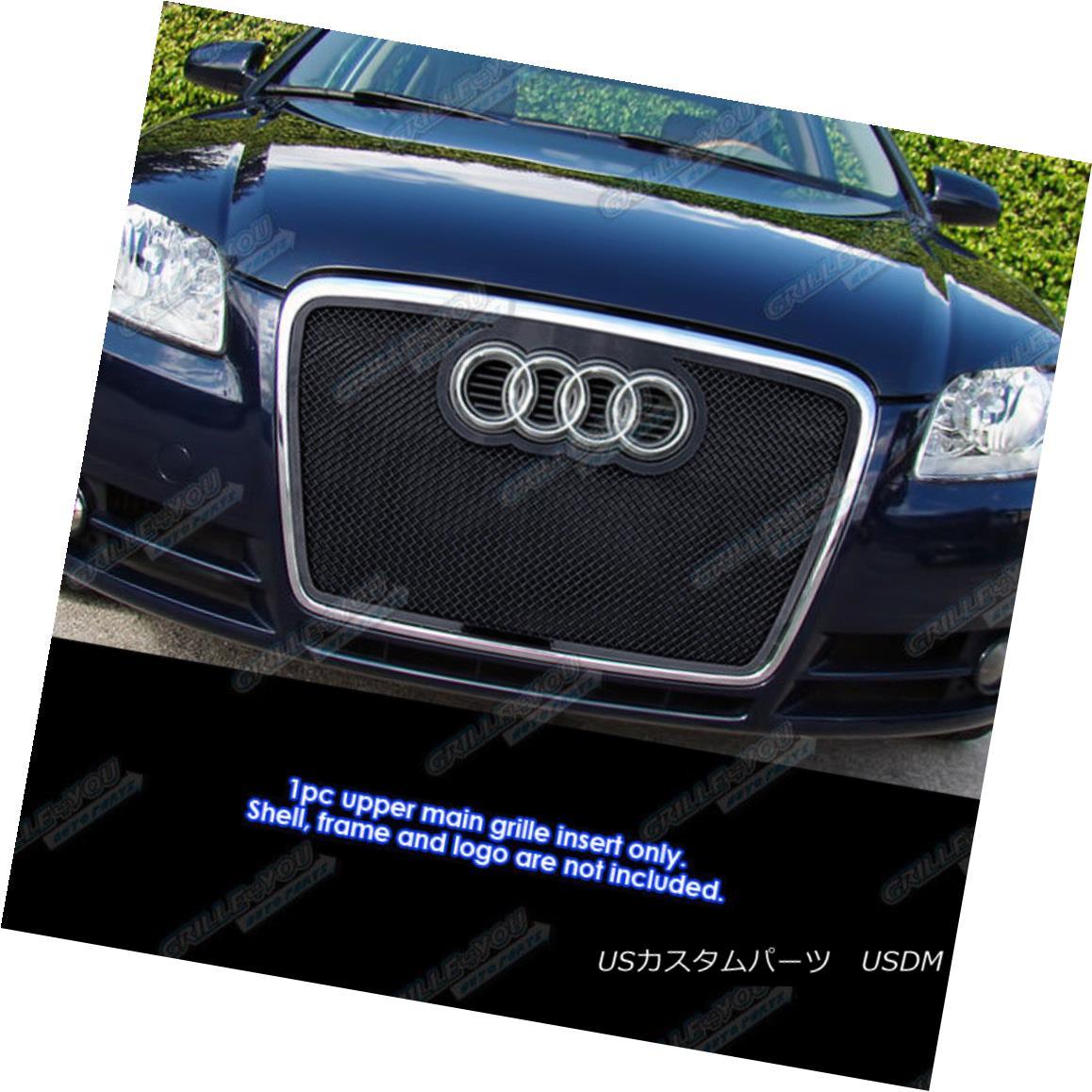 グリル Fits 2006-2007 Audi A4 Stainless Steel Mesh Grille Insert フィット2006-2007 Audi A4ステンレスメッシュグリルインサート