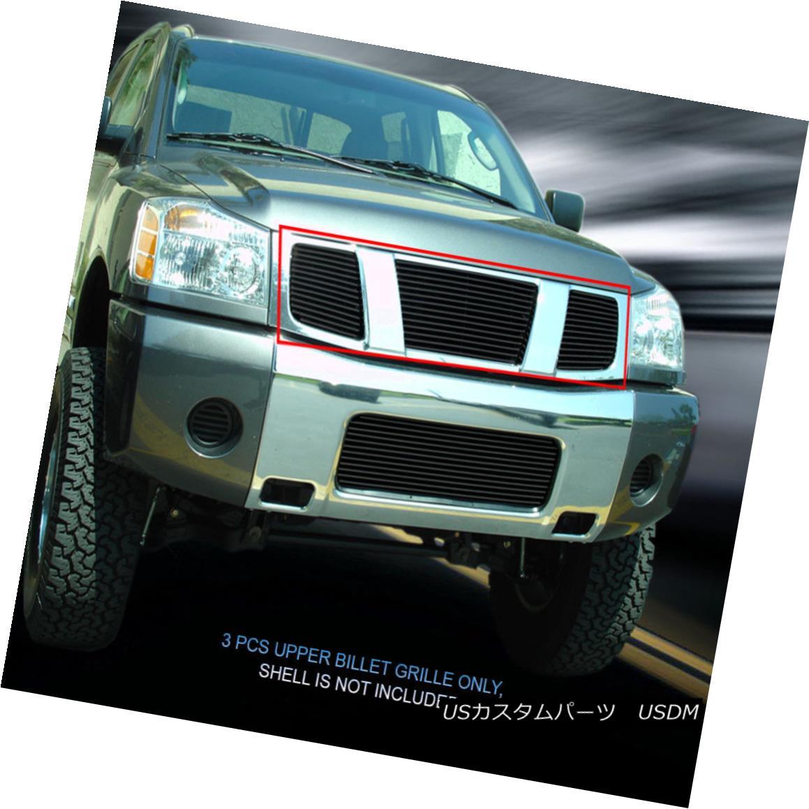 グリル Fedar Fits 2004-2007 Nissan Titan Armada Black Main Upper Billet Grille Fedar Fits 2004-2007 Nissan Titan Armada Blackメインアッパービレットグリル