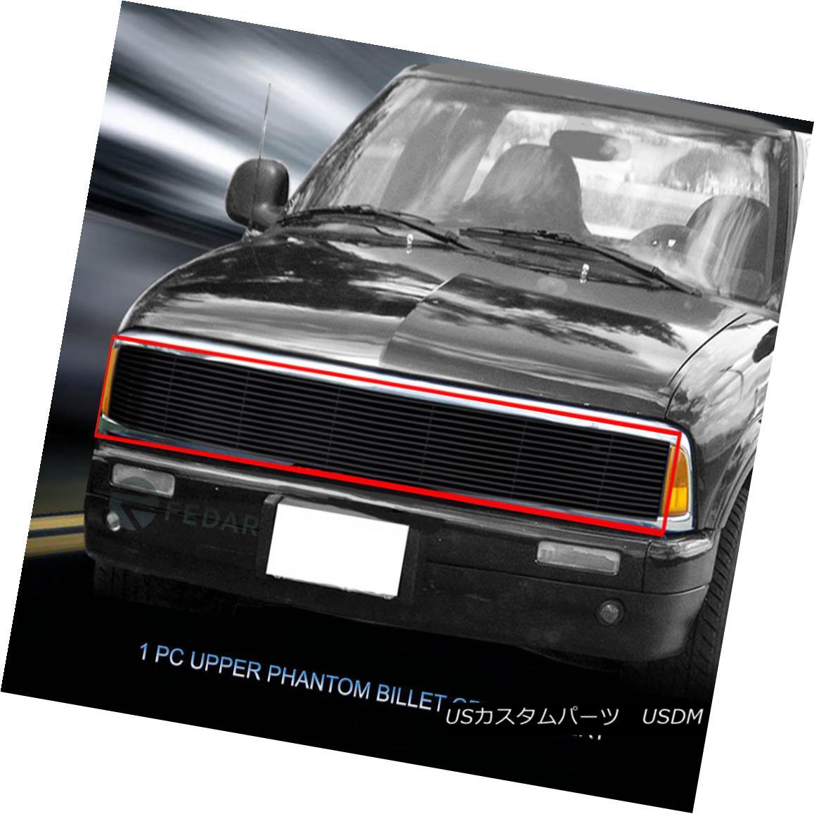 グリル Fedar Fits 91-93 GMC Jimmy/Sonoma /Chevy S10 Black Billet Grille Fedar Fits 91-93 GMCジミー/ソノマ/ Chevy S10 Black Billet Grille