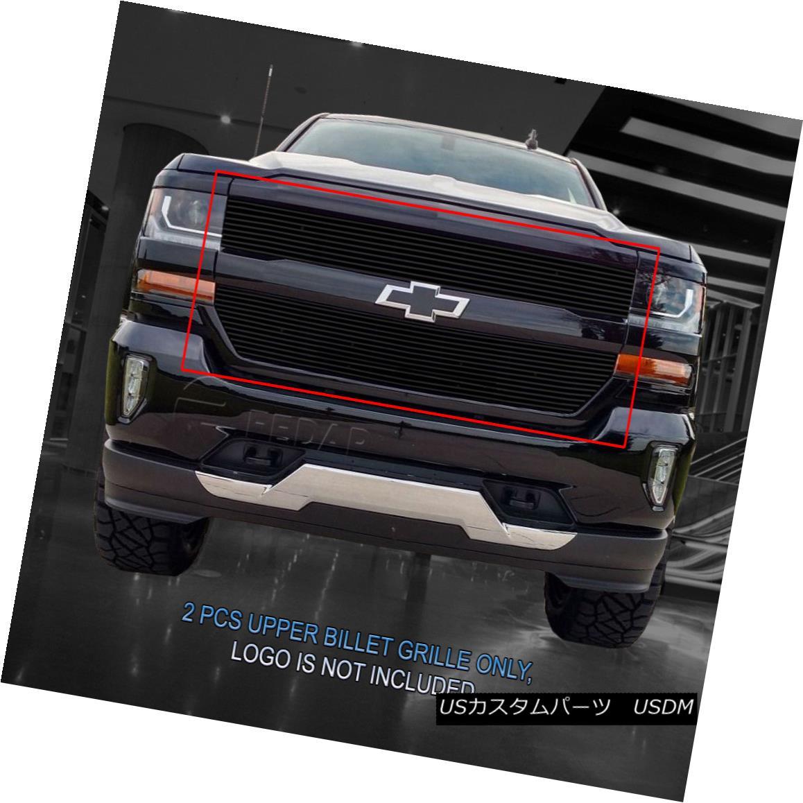グリル Fedar Fits 2016-2017 Chevrolet Silverado 1500 Black Billet Grille Insert Fedarフィット2016-2017 Chevrolet Silverado 1500 Black Billet Grille Insert