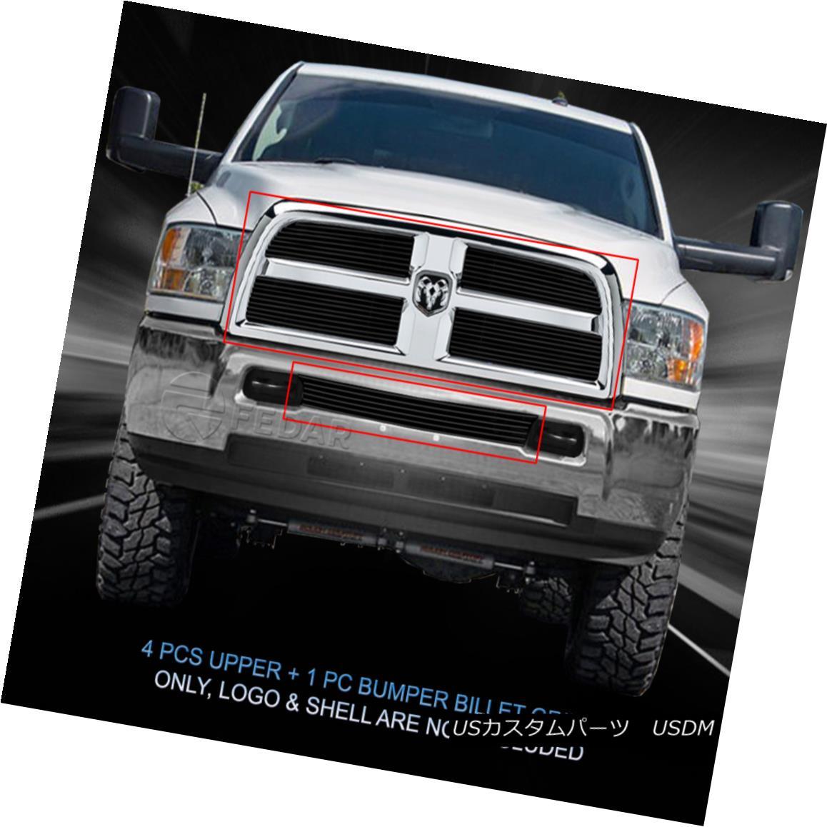 グリル Fedar Fits 2013-2017 Dodge Ram 2500/3500 5pc Black Billet Grille Combo Insert Fedar Fit 2013-2017 Dodge Ram 2500/3500 5pc Black Billet Grilleコンボインサート