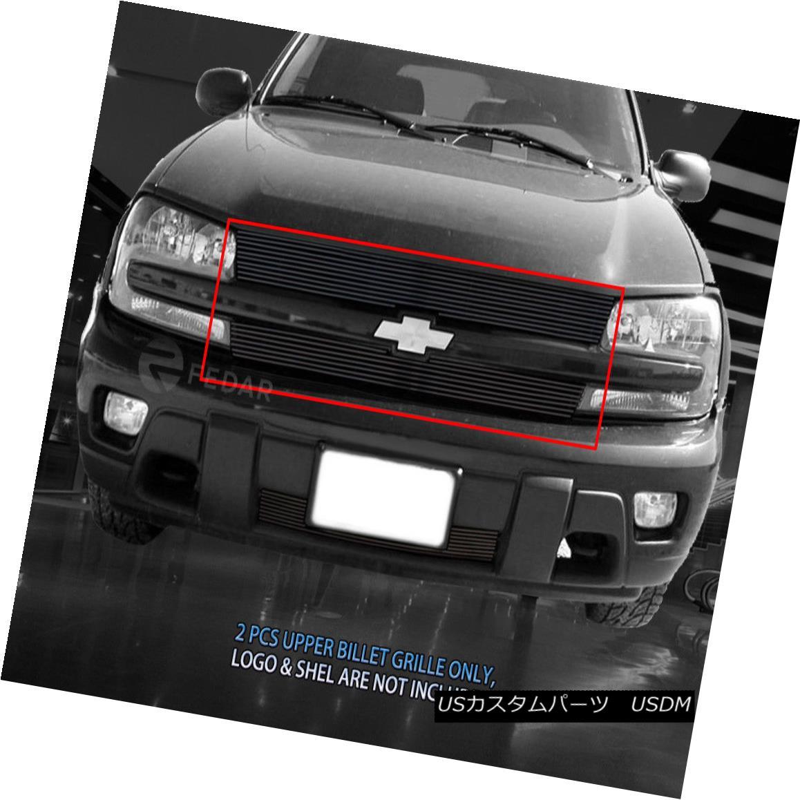 グリル For 02-05 Chevy Trailblazer Black Billet Grille Upper Insert 02-05 Chevy Trailblazer Black Billet Grilleアッパーインサート