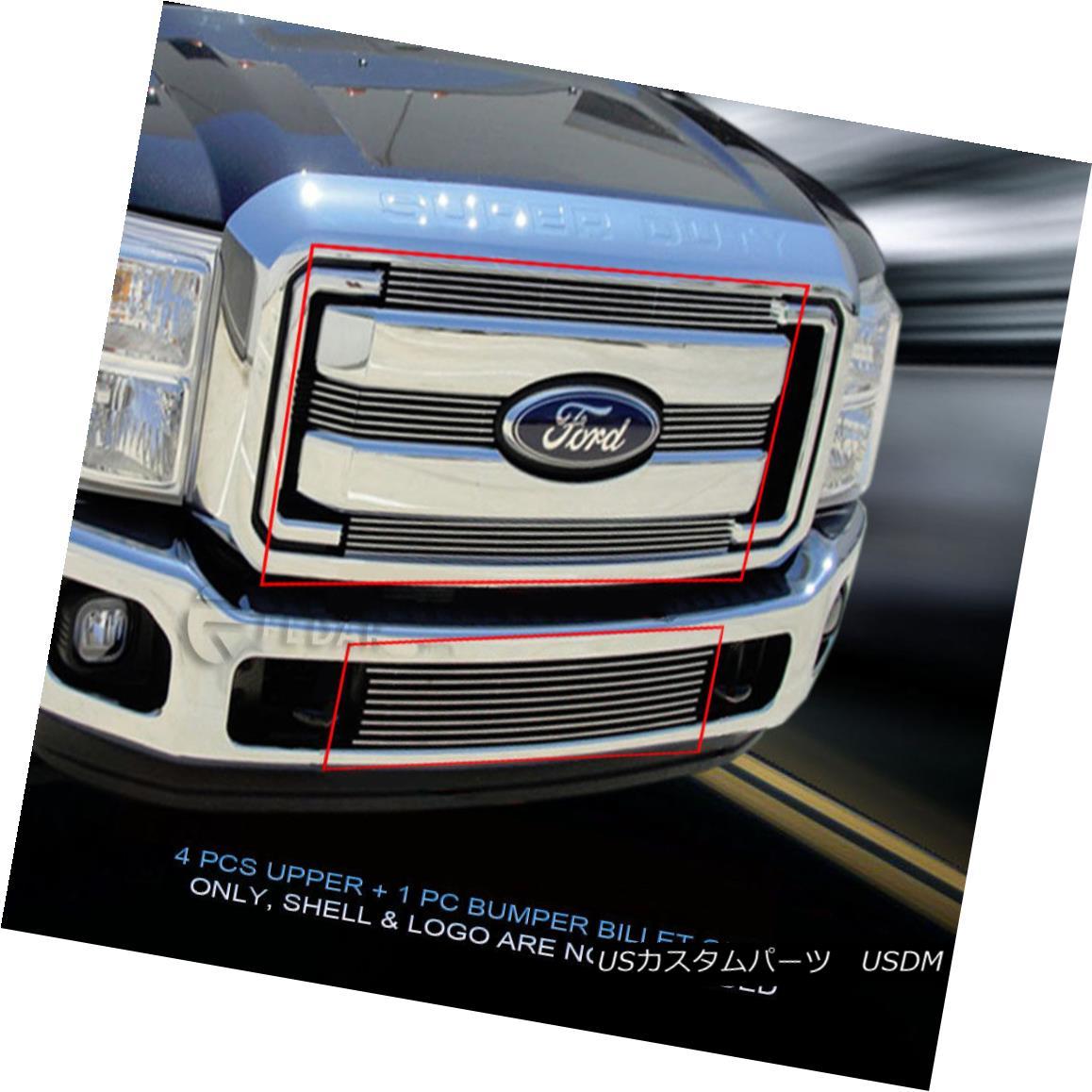 グリル Fits 2011-2016 Ford F-250/F-350/F-450/F-550 Billet Grille Combo Insert フィット2011-2016フォードF-250 / F-350 / F- 450 / F-550ビレットグリルコンボインサート