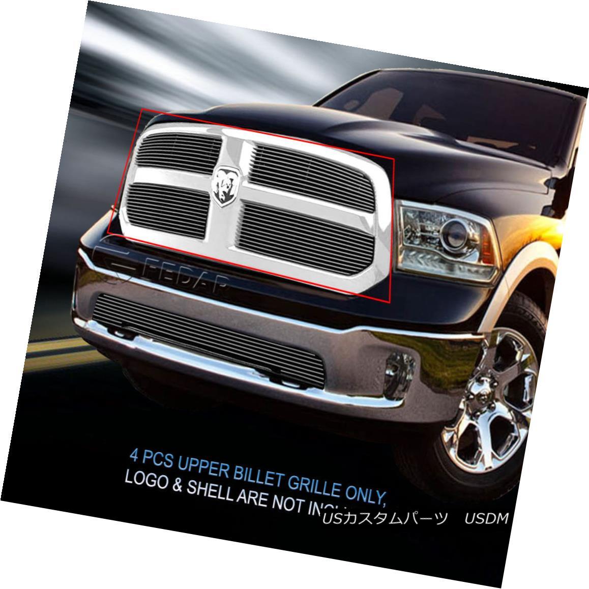 グリル Fedar Fits 2013-2017 Dodge Ram 1500 Polished Main Upper Billet Grille Insert Fedarは2013-2017 Dodge Ram 1500を研磨します。メインアッパービレットグリルインサート