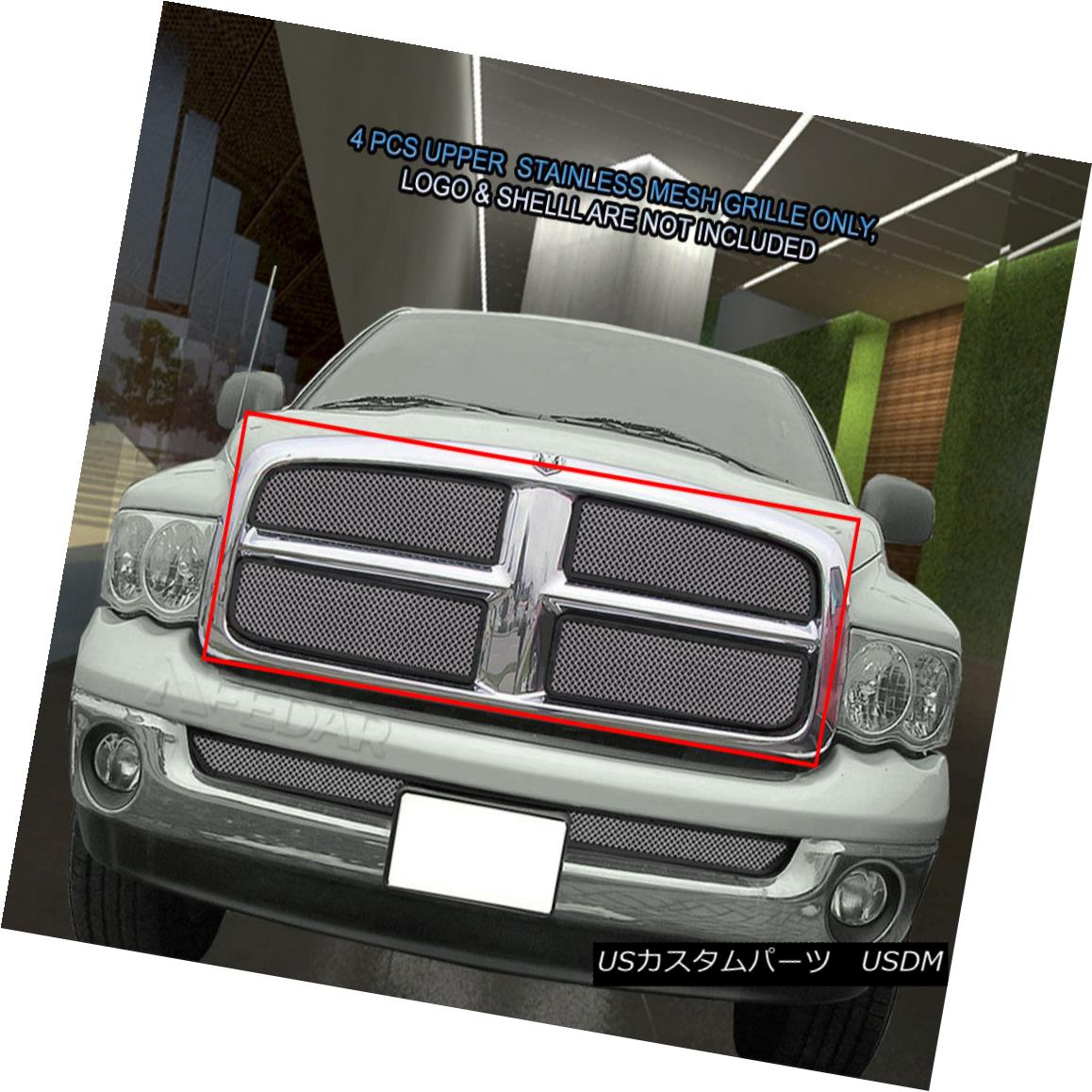 グリル Fits 2002-2005 Dodge Ram 1500/2500/3500 Stainless Steel Mesh Grille Fedar 適合2002-2005ダッジラム1500/2500/3500ステンレスメッシュグリル・フェルダー