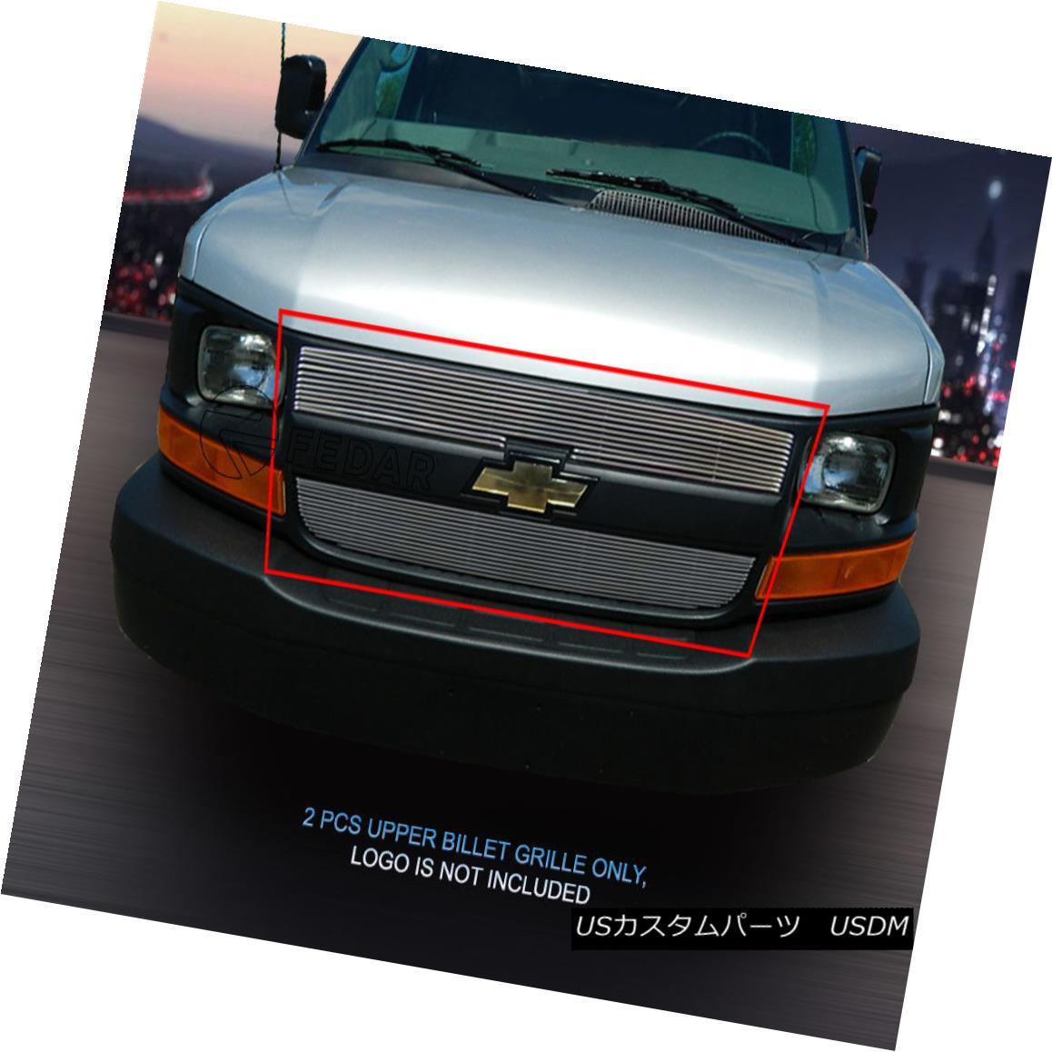 グリル Fedar Fits 2003-2016 Chevy Express Van Polished Billet Grille Insert Fedar Fits 2003-2016 Chevy Express Van Polishedビレットグリルインサート