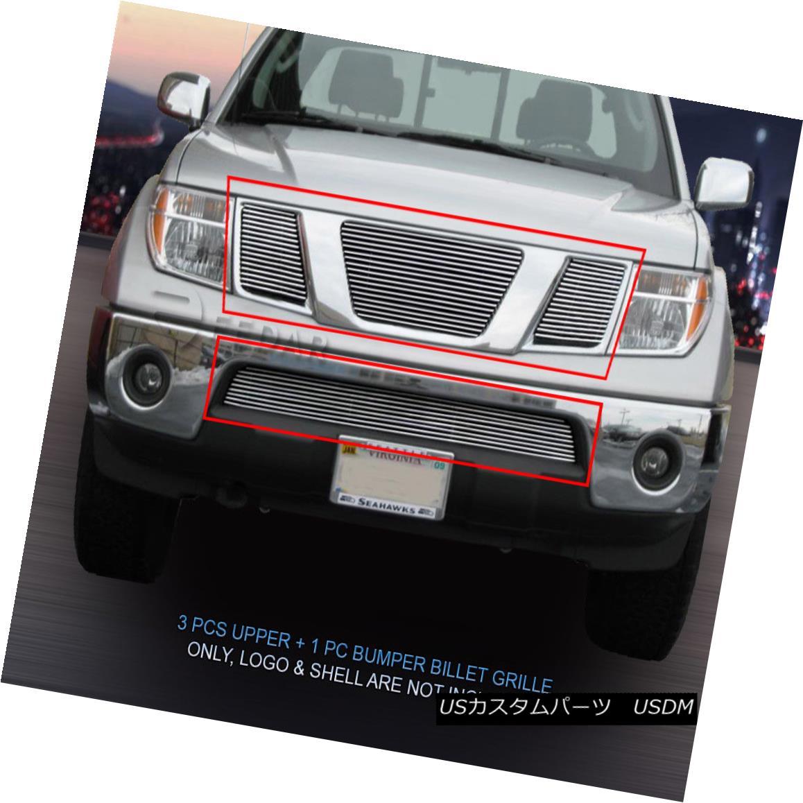 グリル Fits 09-15 Nissan Pathfinder Frontier Billet Grille Grill Combo Insert Fedar フィット09?15日産パスファインダーフロンティアビレットグリルグリルコンボインサートFedar