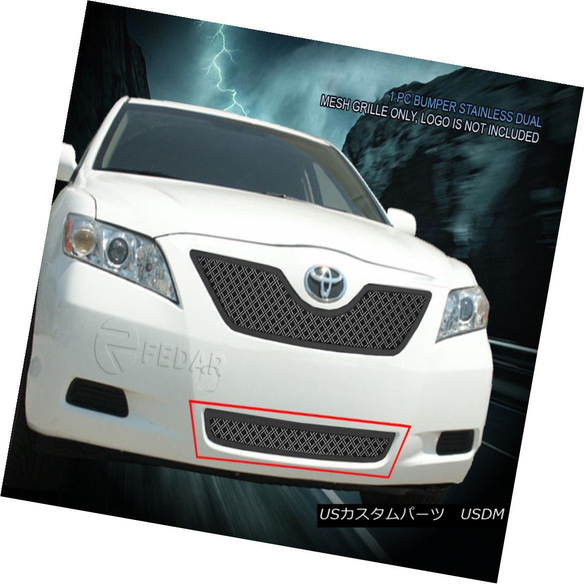 グリル Fedar Fits 2007-2009 Toyota Camry Chrome Bottom Dual Weave Mesh Grille Insert Fedar 2007-2009トヨタカムリクロムボトムデュアルウィーブメッシュグリルインサート