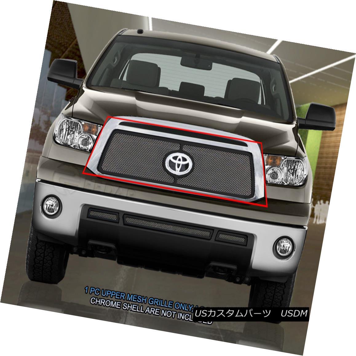 グリル Fedar Fits 2010-2013 Toyota Tundra Chrome/Black Overlay Wire Mesh Grille Insert Fedarフィット2010-2013トヨタトンドラクロム/ブラックオーバーレイワイヤーメッシュグリルインサート