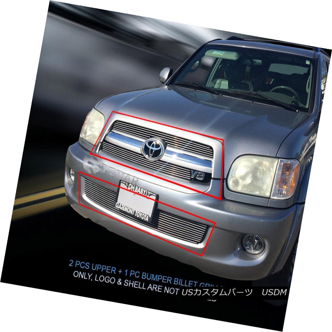 グリル 05 06 07 Toyota Sequoia Billet Grille Grill Combo Insert Fedar 05 06 07トヨタセコイアビレットグリルグリルコンボインサートフェルダ