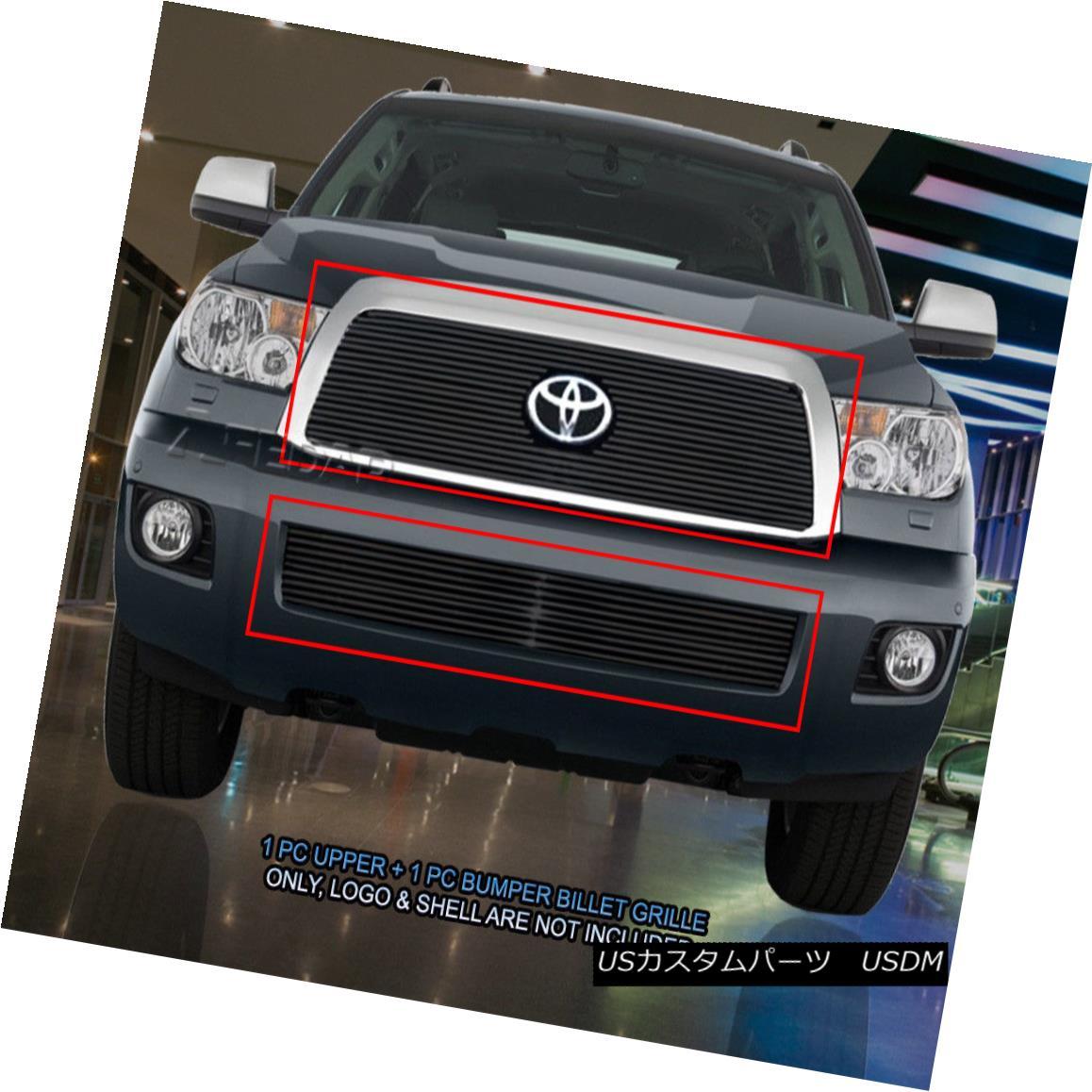グリル 08-13 Toyota Sequoia Black Billet Grille Combo Grill Insert Fedar 08-13トヨタセコイアブラックビレットグリルコンボグリルインサートフェルダー