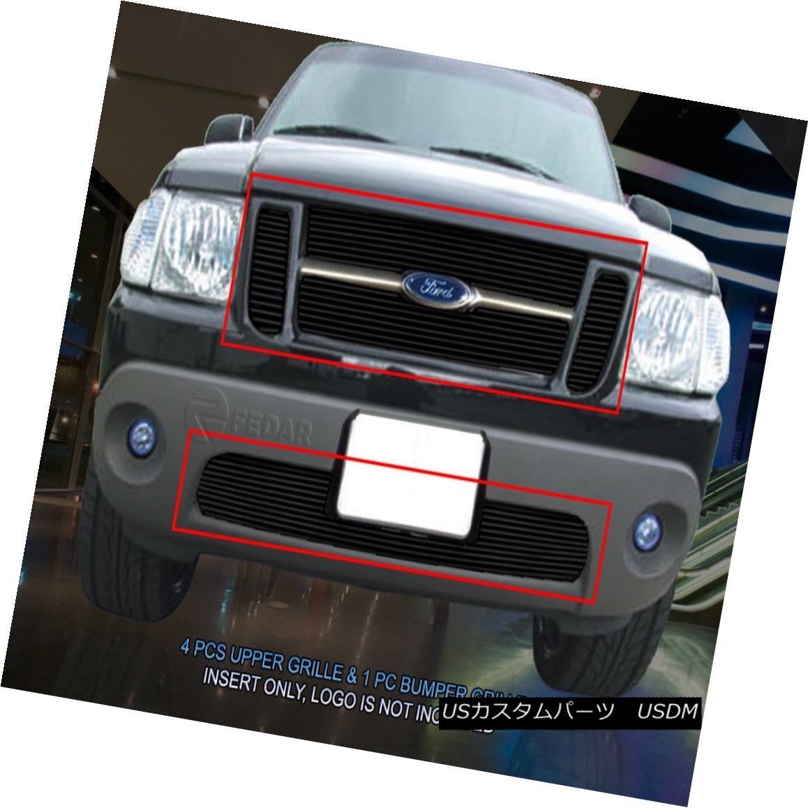 グリル 01-05 Ford Explorer Sport Trac Black Billet Combo Grille Grill Insert Fedar 01-05フォードエクスプローラースポーツトレーブラックビレットコンボグリルグリルインサートフェルダー