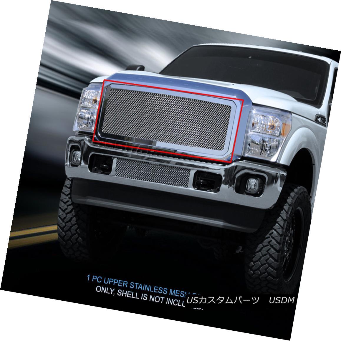 グリル Fedar Fits 2011-2015 Ford F250/F35/F450/F550 Super Duty Wire Mesh Grille Insert F550スーパーデューティーワイヤーメッシュグリルインサート(F550 Super Duty Wire Mesh Grille Insert)2011年?2015年Ford F550 / F35 / F450 /
