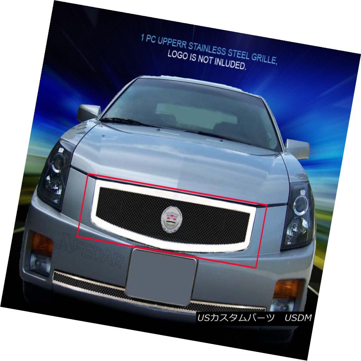 グリル Fedar Fits 2003-2007 Cadillac CTS Black/Polished Insert Wire Mesh Grille Insert Fedar Fitting 2003-2007 Cadillac CTS Black / Polishedインサートワイヤメッシュグリルインサート