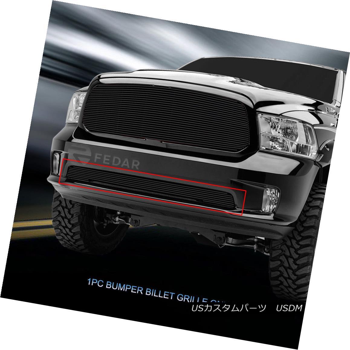 グリル Fedar Fits 2013-2017 Dodge Ram 1500 Black Lower Bumper Billet Grille Insert Fedarは2013-2017年ダッジラム1500 Black Lower Bumper Billet Grille Insert