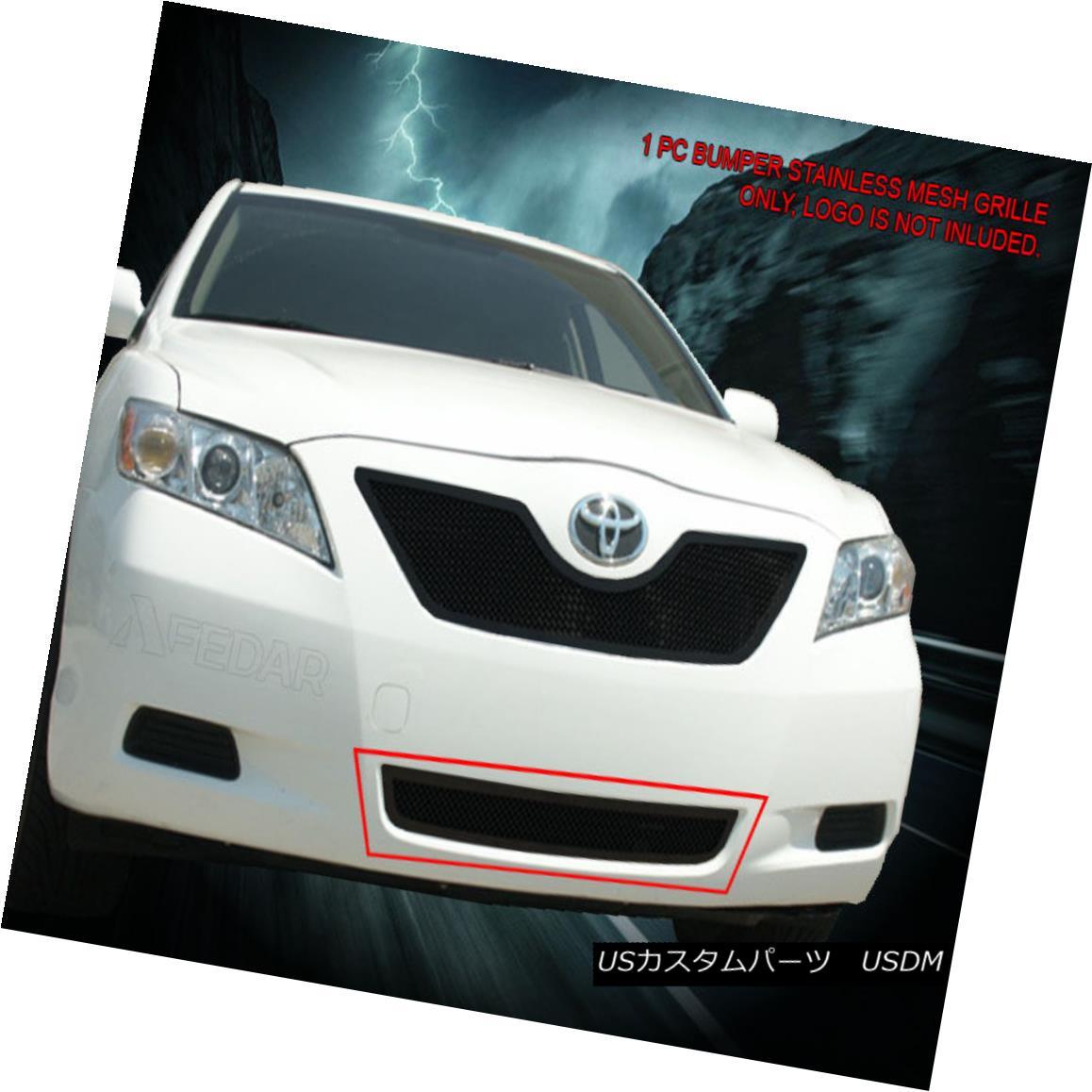 グリル 07-09 Toyota Camry Black Stainless Mesh Grille Grill Bumper Insert Fedar 07-09トヨタカムリブラックステンレスメッシュグリルグリルバンパーインサートフェルダ