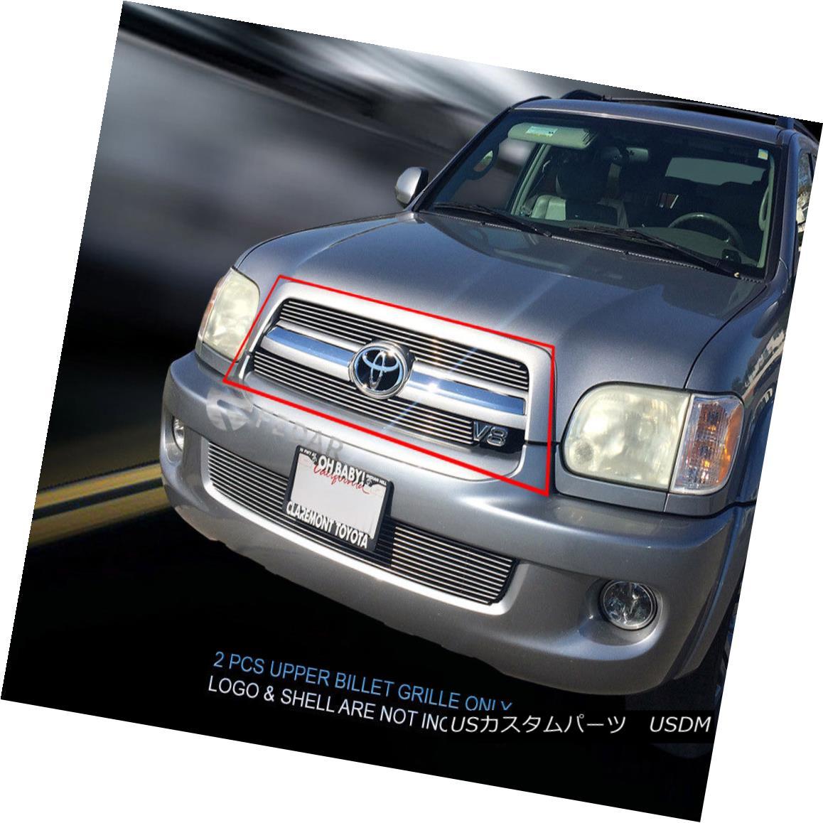 グリル Fedar Fits 2005-2007 Toyota Sequoia Polished Main Upper Billet Grille Fedarは2005-2007年に合うToyota Sequoiaはメインアッパービレットグリルを研磨した